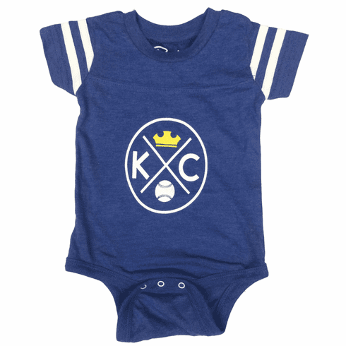Bunkermade KCMO Infant Onesies<br>KC Crown