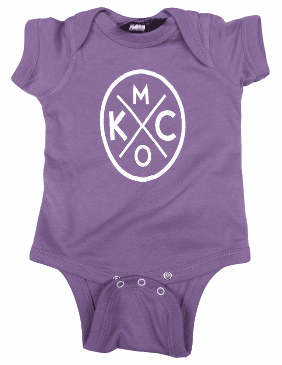 Bunkermade KCMO Infant Onesies<br>Purple