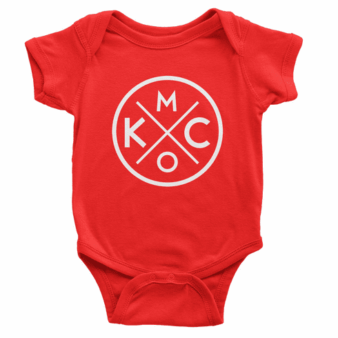 Bunkermade KCMO Infant Onesies<br>Red