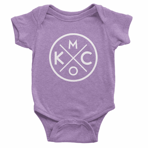 Bunkermade KCMO Infant Tri-blend Onesie<br>Tri-Purple