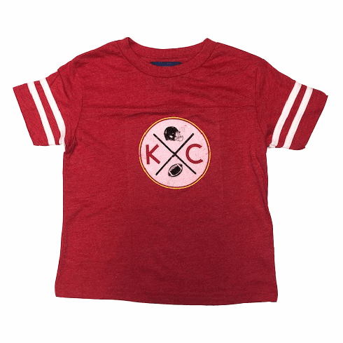 Bunkermade KCMO Toddler<br>KC Football Retro Jersey Tee