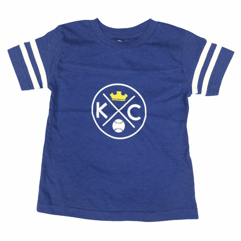 Bunkermade KCMO Toddler & Youth<br>KC Crown Retro Jersey Tee