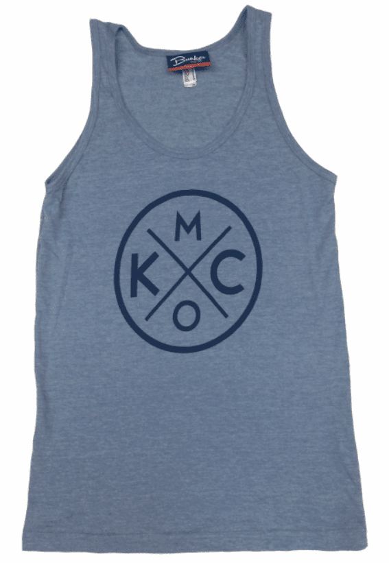BunkerMade KCMO Unisex Tank Top<br>Tri-Blue