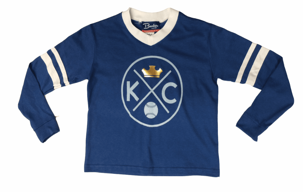 Bunkermade KCMO Youth <br>KC Crown Long Sleeve Tee