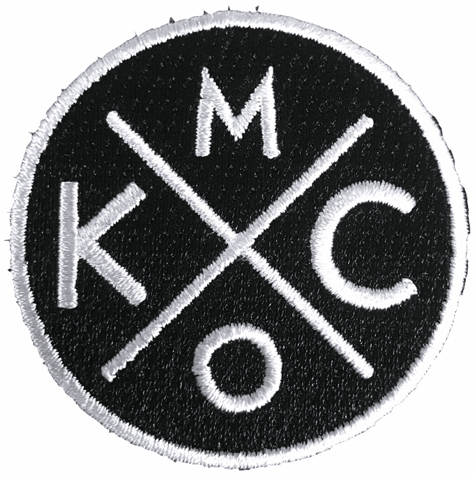 Bunkermade Small KCMO Black/White Patch