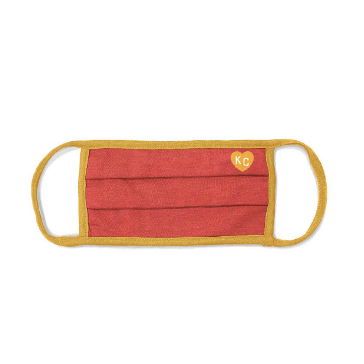 Charlie Hustle Red/Yellow KC Heart Comfort Mask