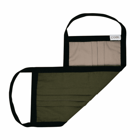 Coal Olive/Khaki Reversible Face Mask