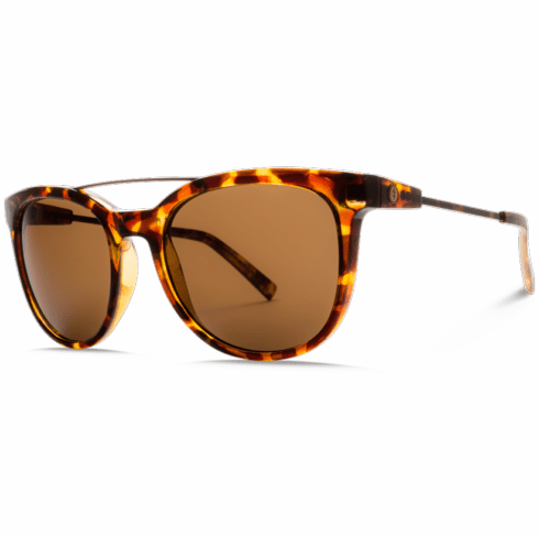 Electric Bengal Wire Sunglasses<br>Gloss Tortoise/Melanin Bronze Polarized