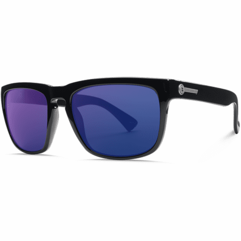 Electric Knoxville Sunglasses<BR>Gloss Black/OHM Blue Polarized