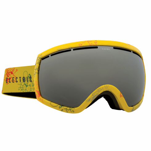 Electric Visual EG2.5 Snow Goggles<br>Cartoon Yellow/Bronze w/Silver Chrome<br>+ Light Green Bonus Lens