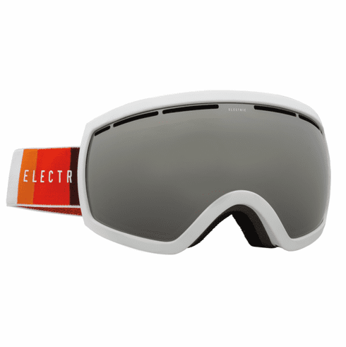 Electric Visual EG2.5 Snow Goggles<br>Orange Blast White/Bronze w/Silver Chrome<br>+ Light Green Bonus Lens
