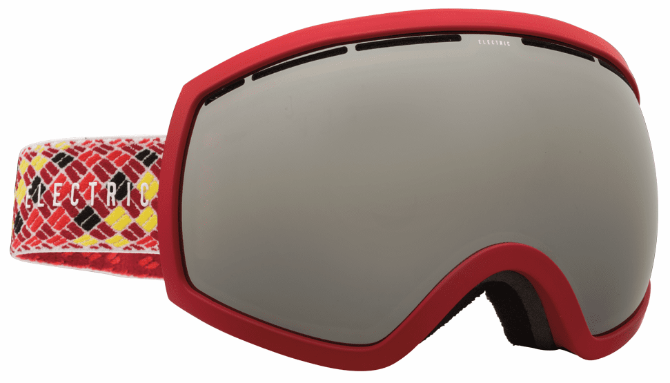 Electric Visual EG2 Snow Goggles<br>Red Black Rope/Bronze w/Silver Chrome <br>+ Light Green Bonus Lens