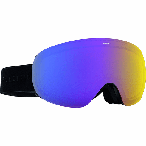 Electric Visual EG3.5 Snow Goggles<br>Gloss Black/Yellow Blue Chrome<br>+ Bonus Lens