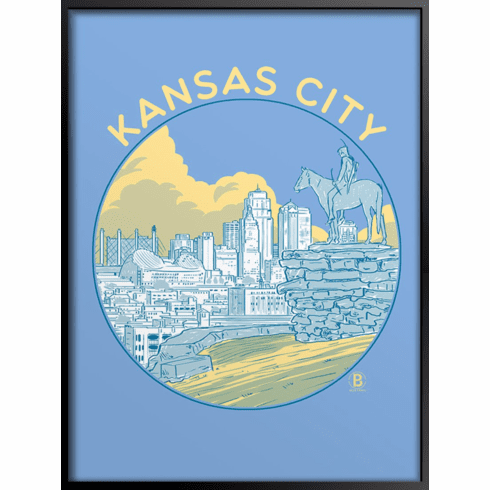 Kansas City Circle Art Print