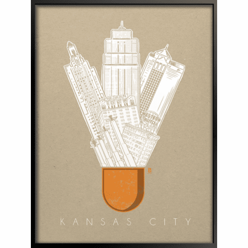 Kansas City Icon Art Print