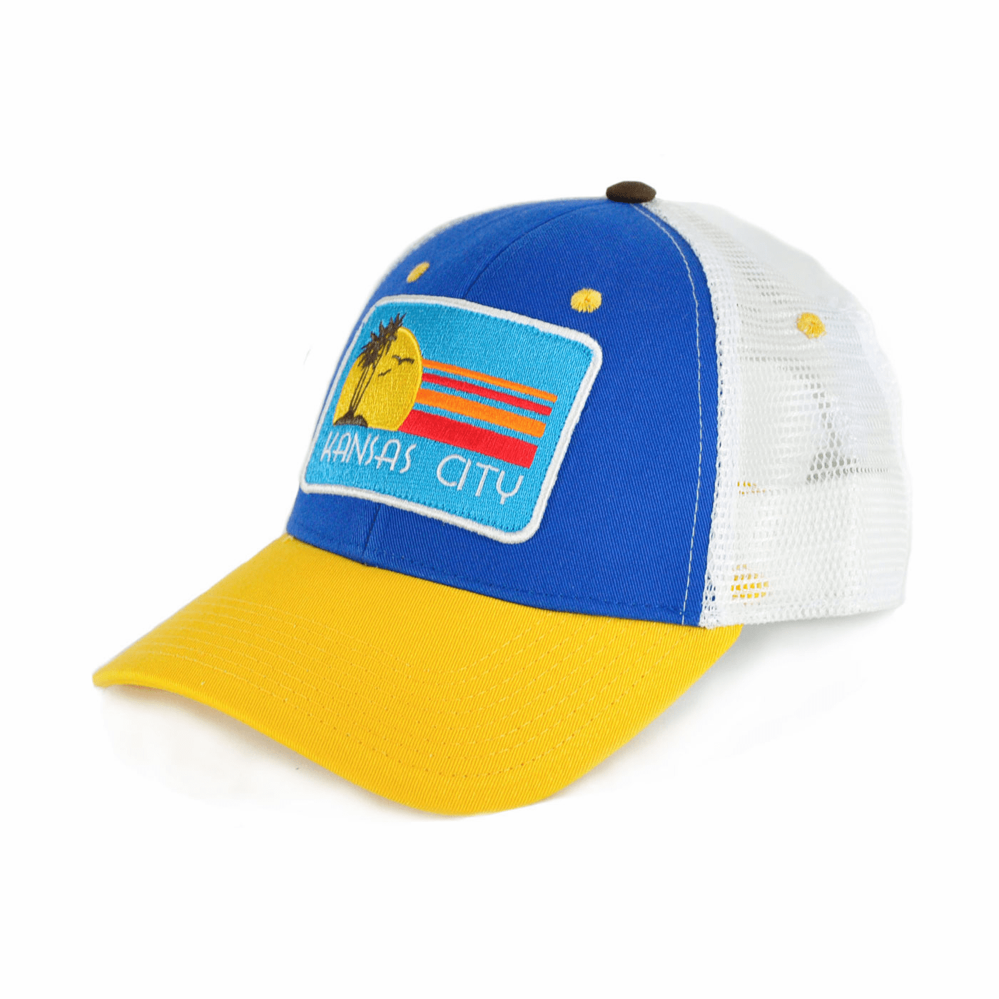 Kansas City Paradise Blue Curved Bill Trucker Hat