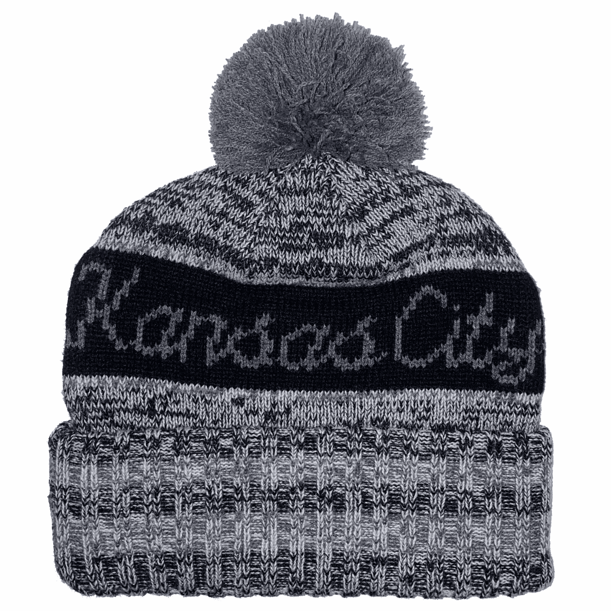 Kansas City Pom Beanie<br>Black
