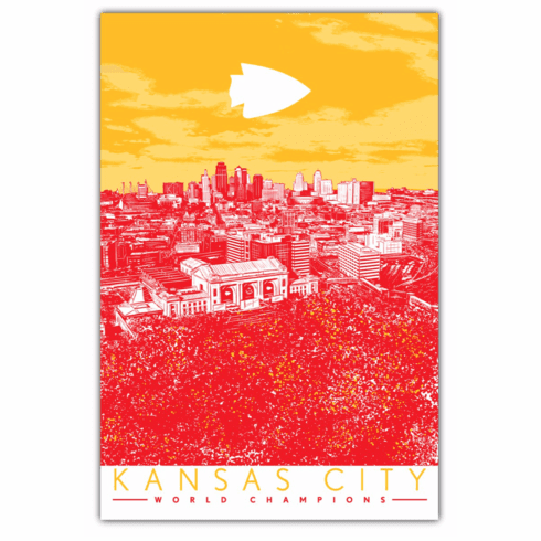 Kansas City World Champions Red Sea Art Print