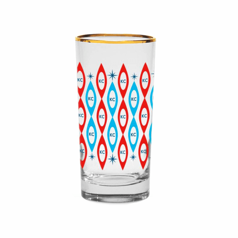 KC Mid-Century Modern Highball Glass