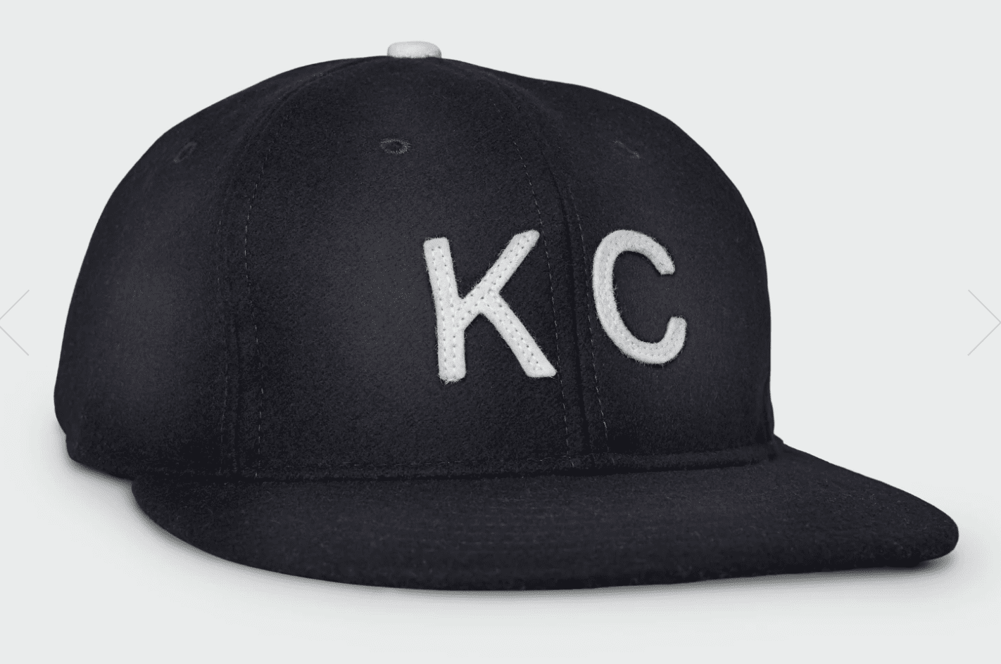 KC Vintage Wool Flatbill Hat Black
