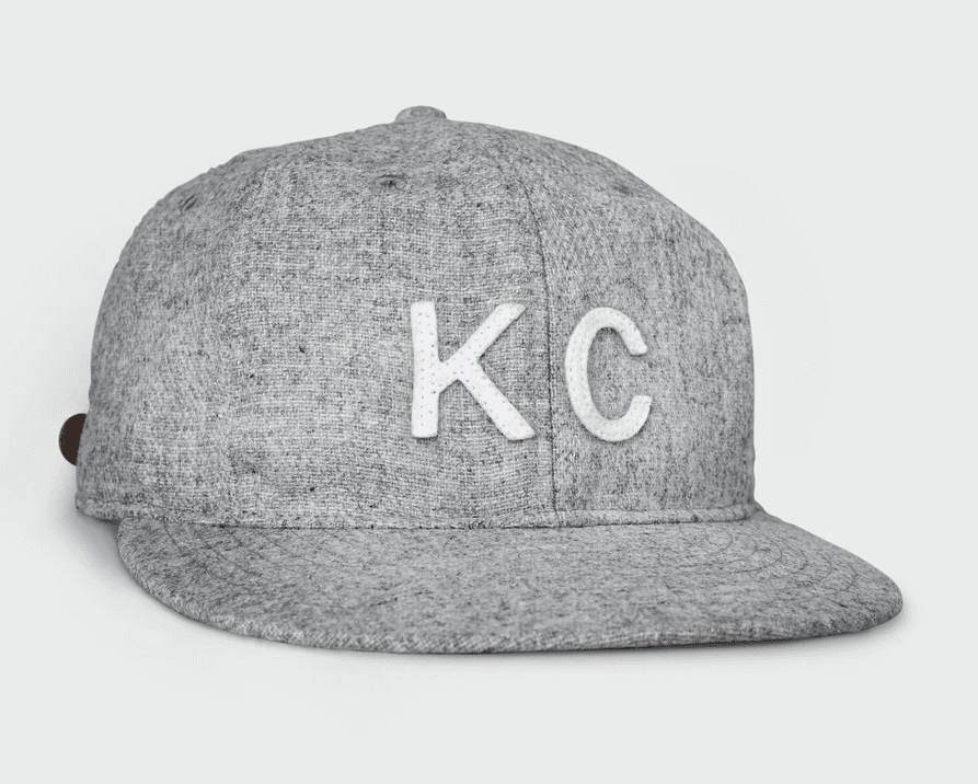 KC Vintage Wool Flatbill Hat Heather Grey