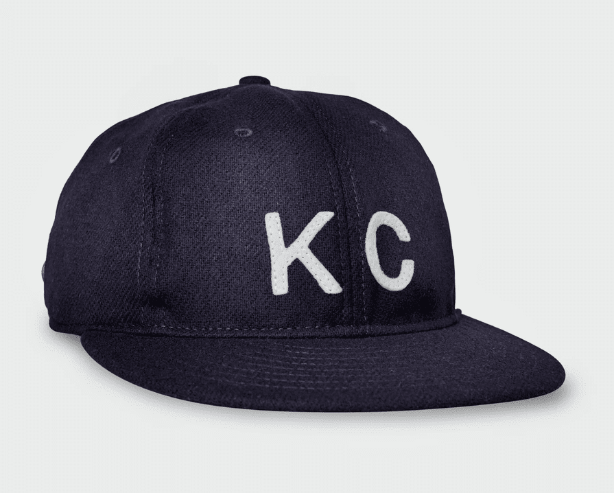 KC Vintage Wool Flatbill Hat Navy