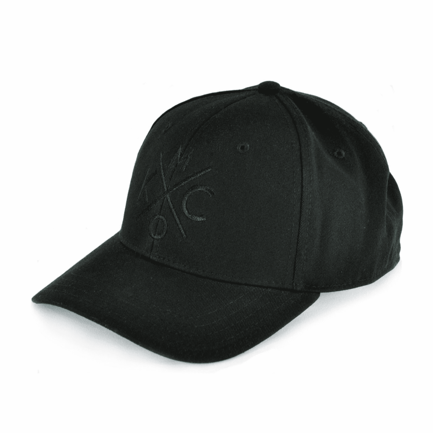 KCMO Black/Black Curved Bill Hat