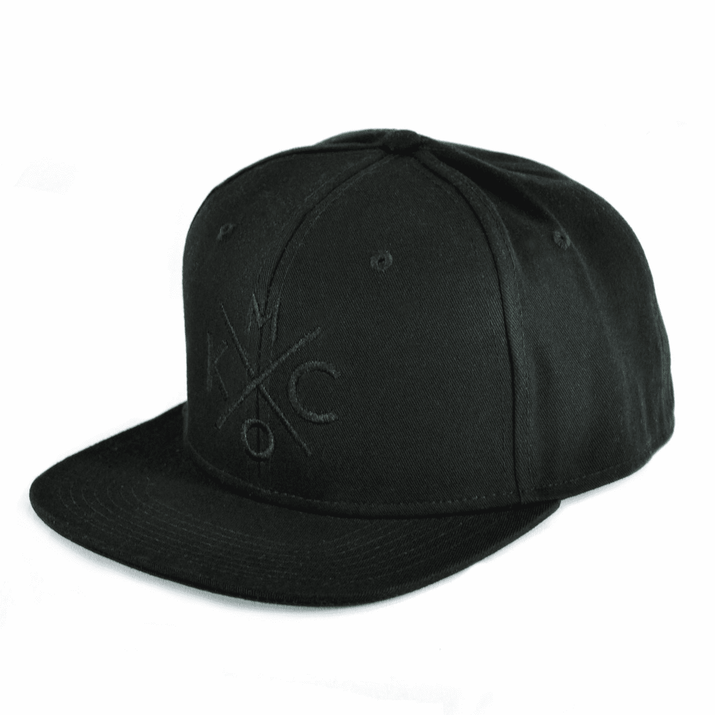 KCMO Black/Black Flat Bill Hat