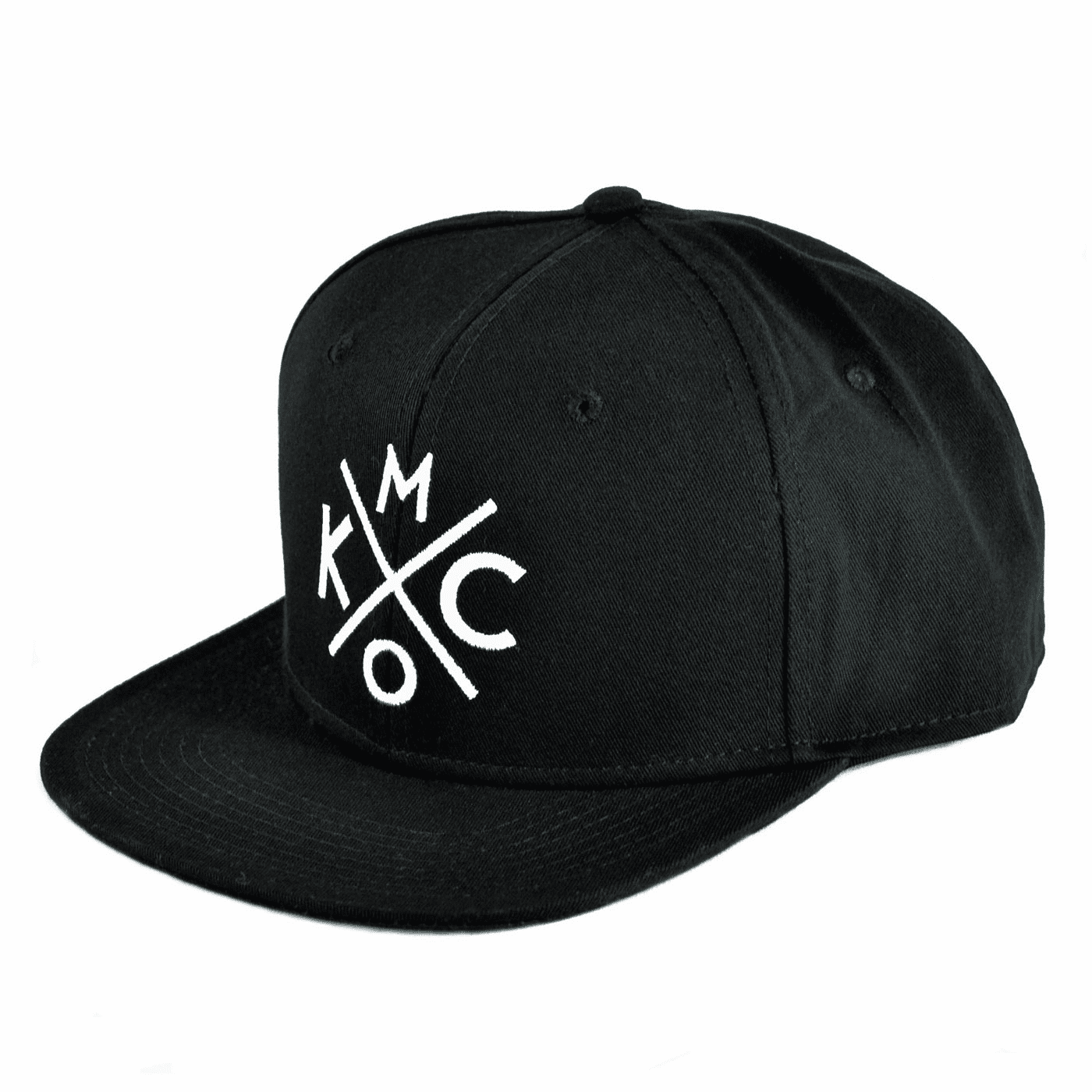 KCMO Black/White Flat Bill Hat