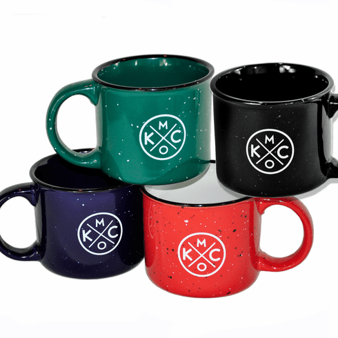 KCMO Ceramic Campfire Mug 4-Pack Set