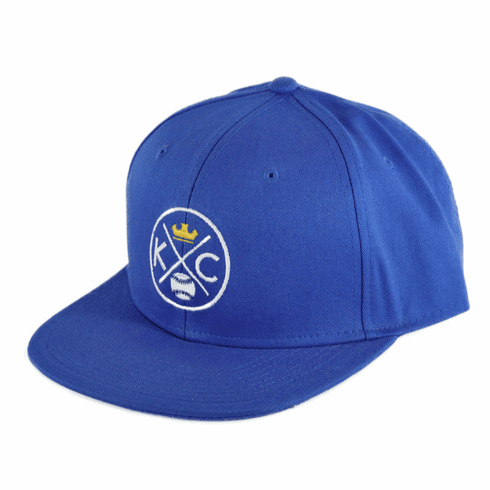 KCMO Crown Baseball Flat Bill Hat