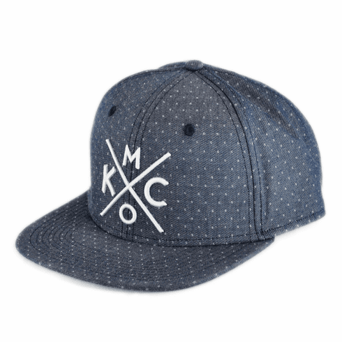 KCMO Denim Dobby Flat Bill Hat