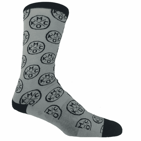 KCMO Grey/Black Socks