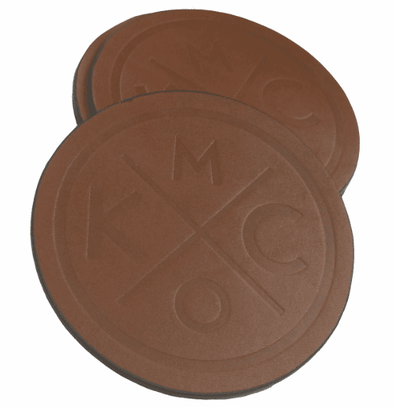 KCMO Leather Goods<br>4-Pack Coasters<br>Brown
