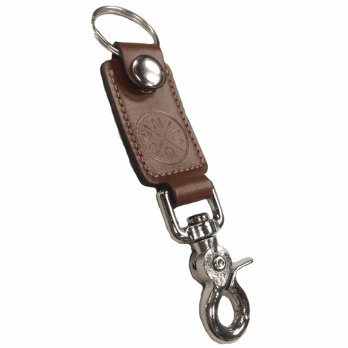KCMO Leather Goods<br>Key Fob<br>Brown