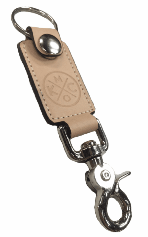 KCMO Leather Goods<br>Key Fob<br>Natural