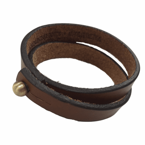 KCMO Leather Goods<br>Long Bracelet<br>Brown