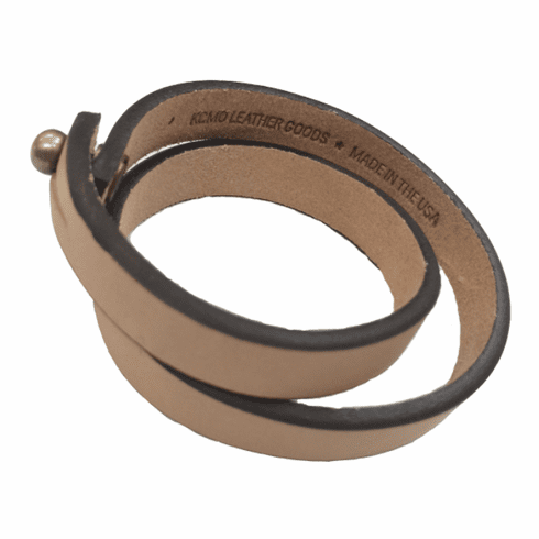 KCMO Leather Goods<br>Long Bracelet<br>Natural