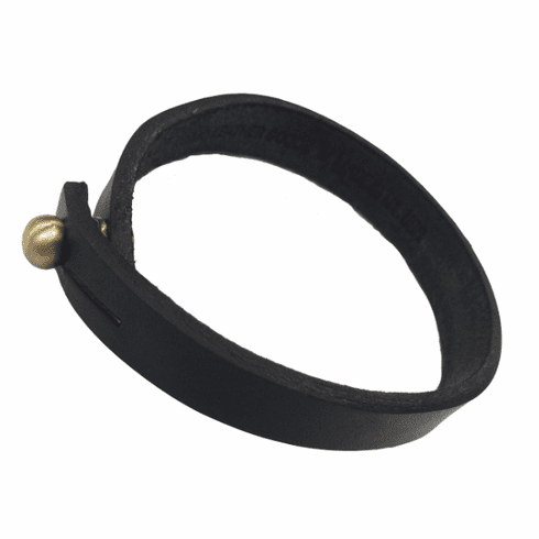 KCMO Leather Goods<br>Short Bracelet<br>Black