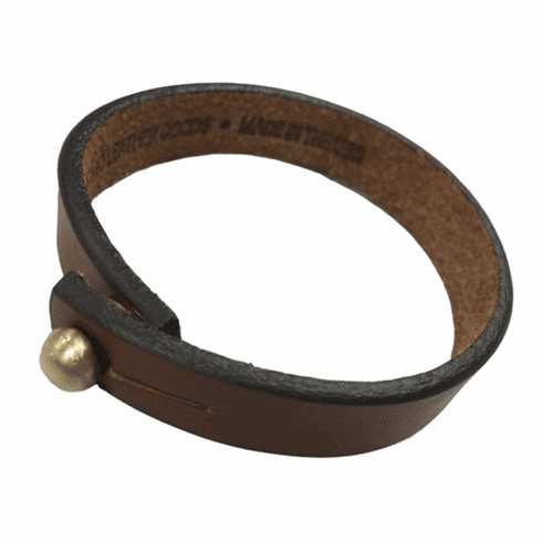 KCMO Leather Goods<br>Short Bracelet<br>Brown