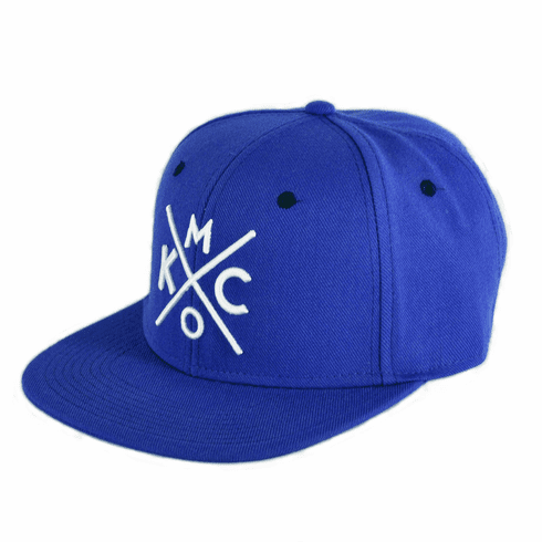 KCMO Royal/White Flat Bill Hat
