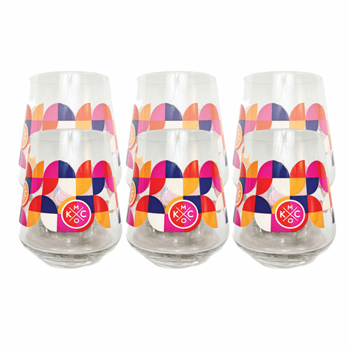 KCMO Stemless Wine Glass 6 Pack