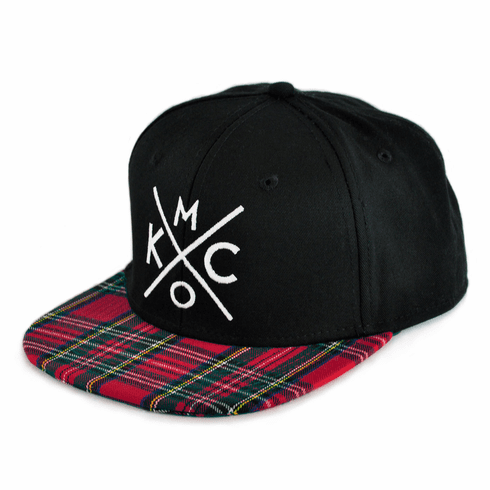 KCMO Tartan Plaid Flat Bill Hat