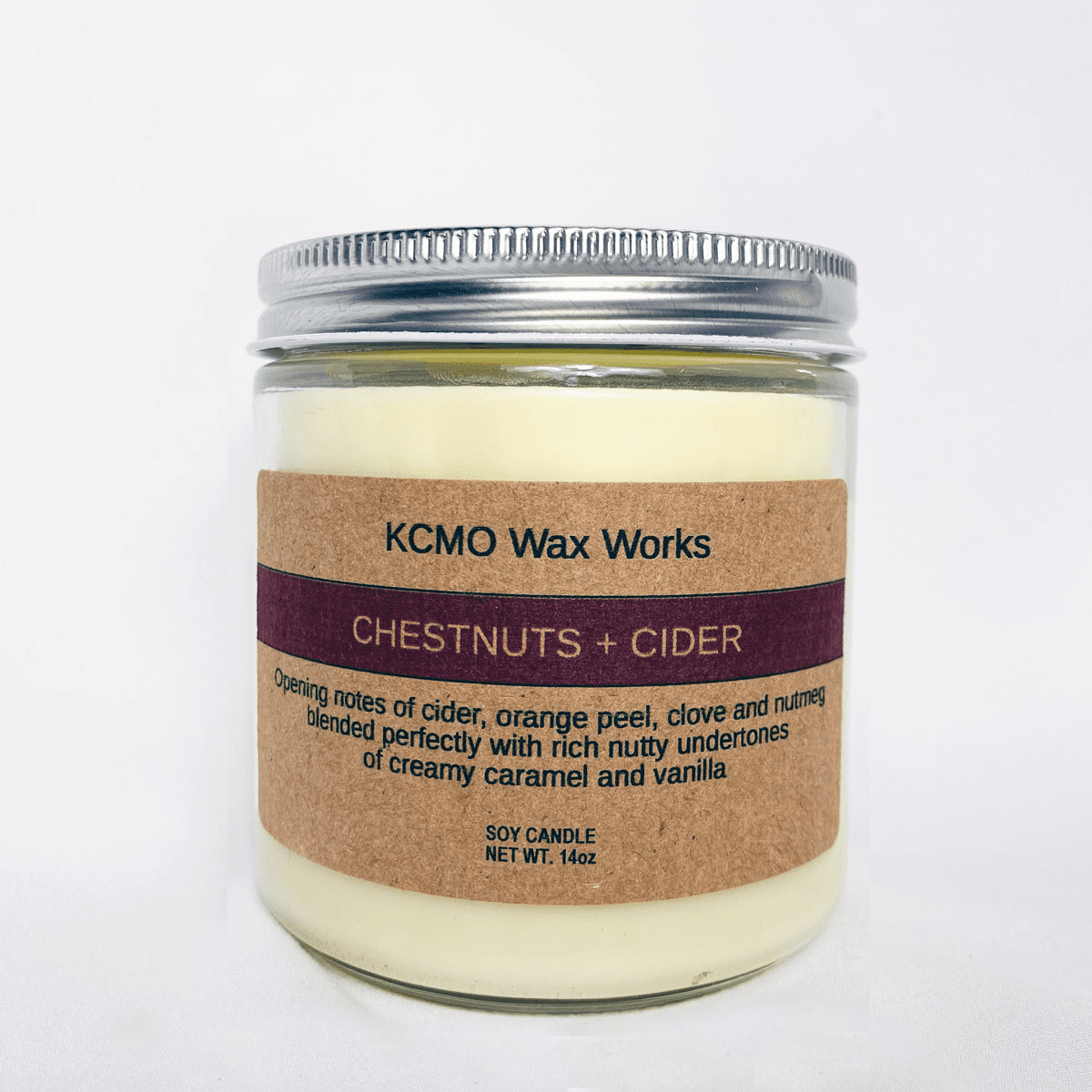 KCMO Wax Works Chestnuts & Cider Soy Candle