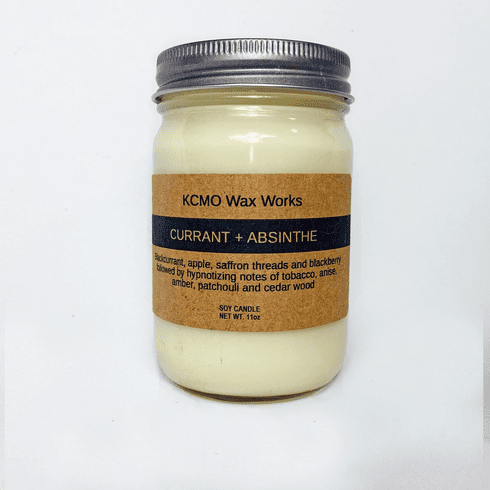 KCMO Wax Works Currant & Absinthe Soy Candle