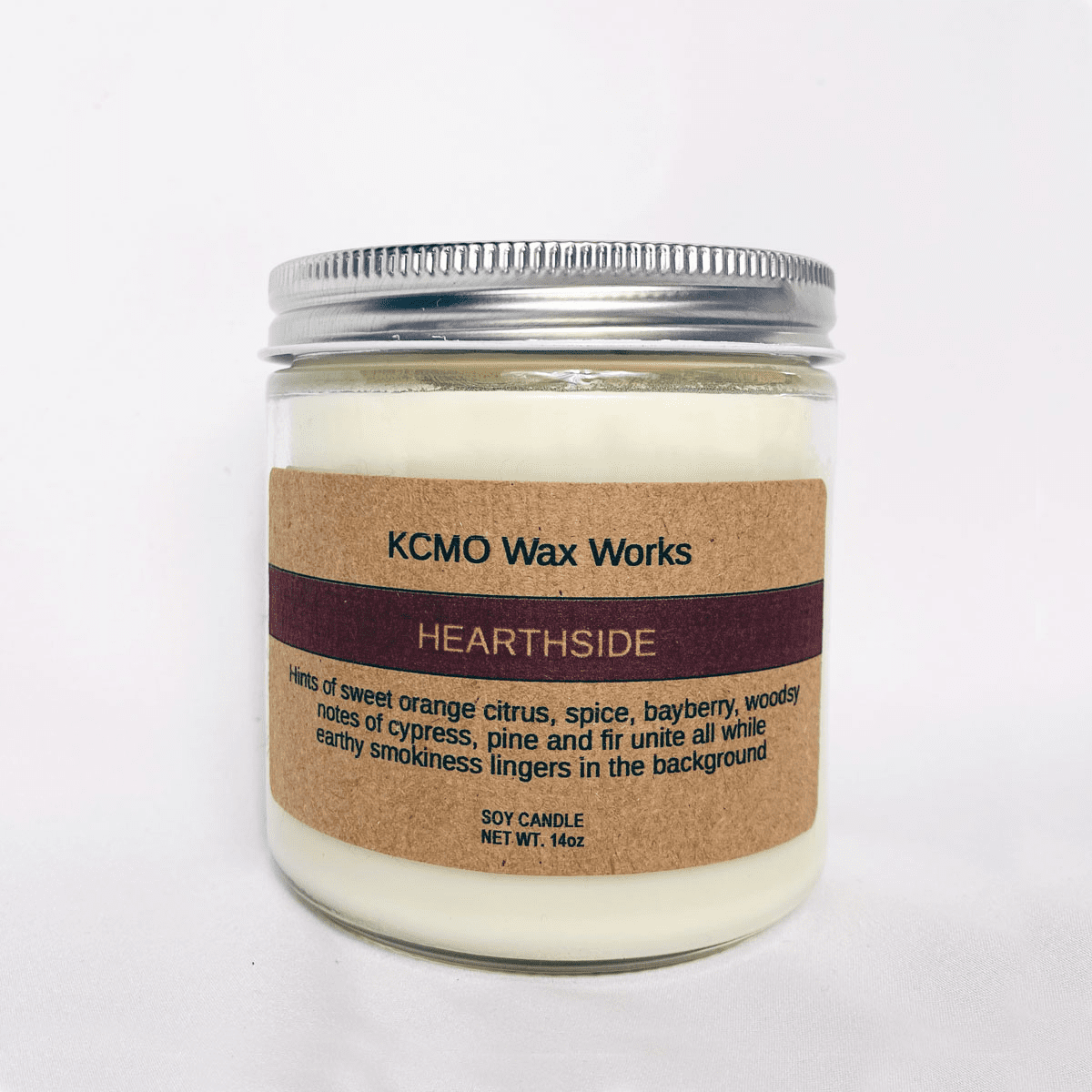 KCMO Wax Works Hearthside Soy Candle