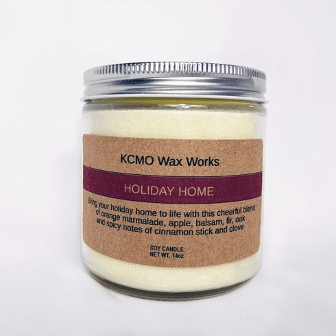 KCMO Wax Works Holiday Home Soy Candle
