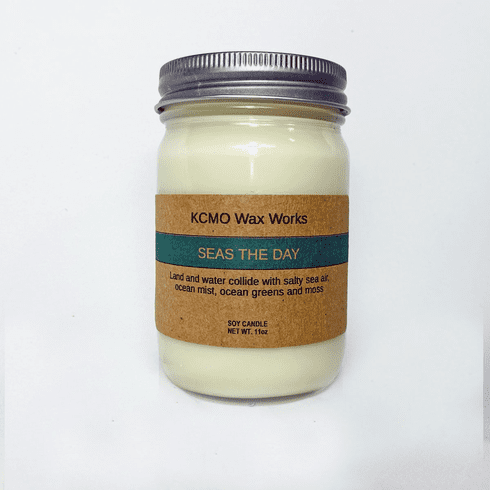 KCMO Wax Works Seas the Day Soy Candle
