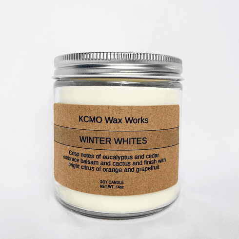 KCMO Wax Works Winter Whites Soy Candle