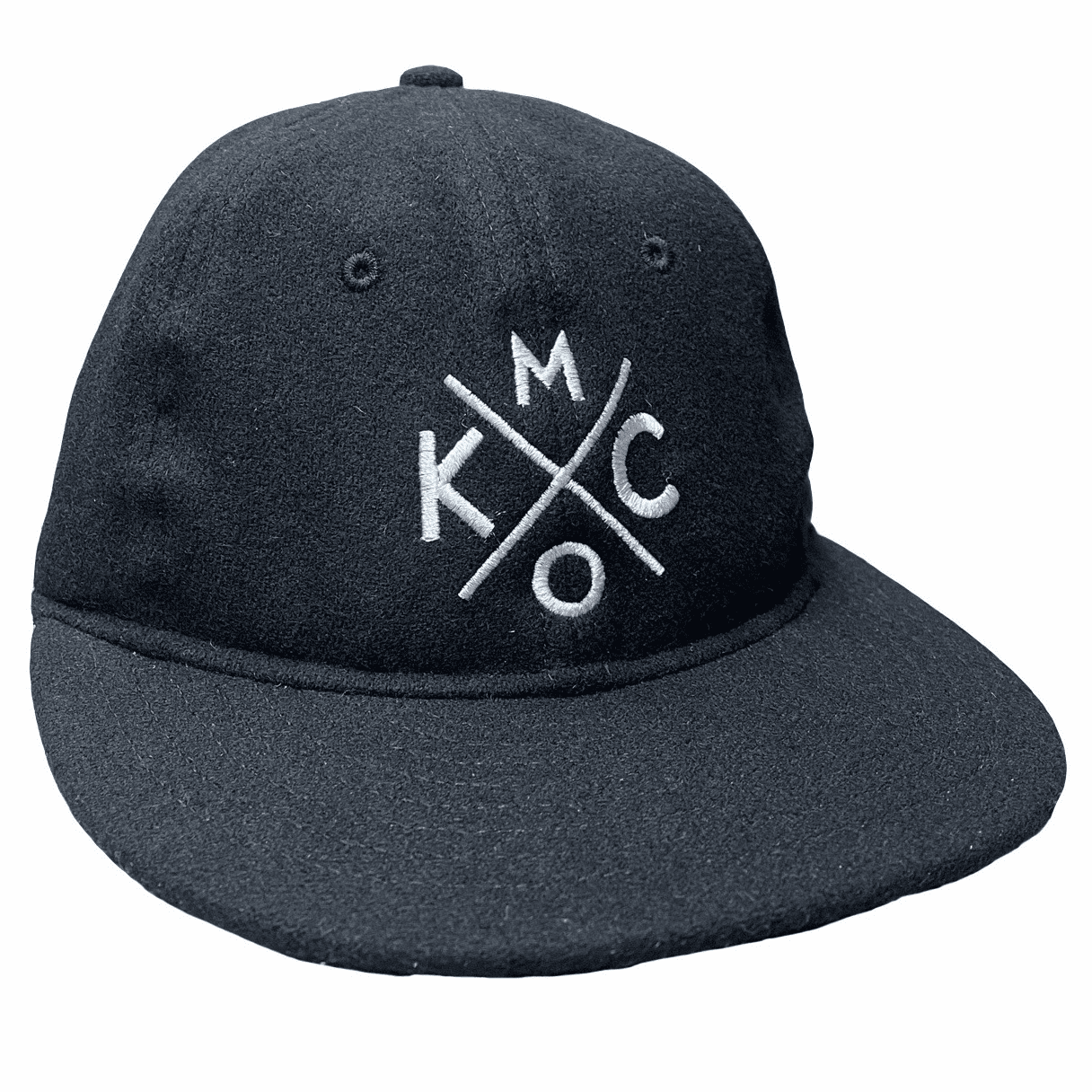 KCMO Wool Flatbill Hat<br>Black